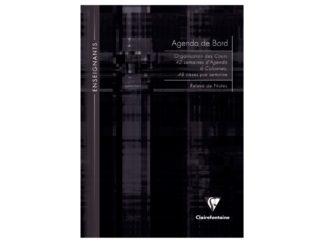 Agendă nedatată A4, Clairefontaine negru
