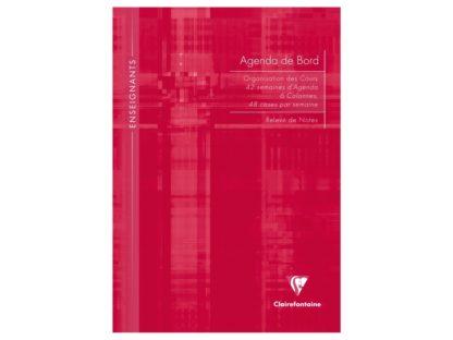 Agendă nedatată A4, Clairefontaine roșu