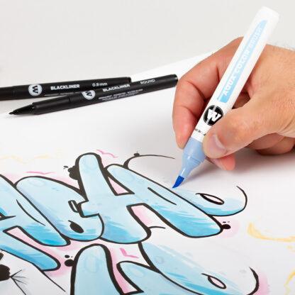Aqua Color Brush Basic Set 2 example 2