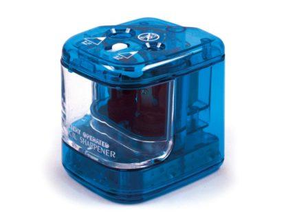 Ascuțitoare electrică dublă albastru