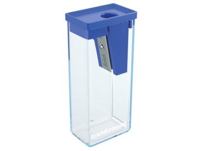 Ascutitoare plastic cu rezervor City albastru