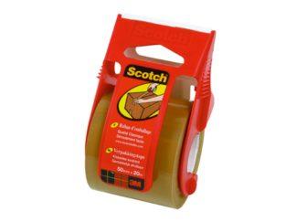 Bandă adezivă cu dispenser Scotch® maro