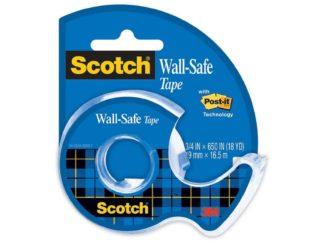 Bandă adezivă Wall Safe cu dispenser, 19 mm x 16.5 m, Scotch