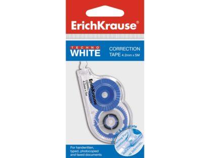 Bandă corectoare Erich Krause Techno White Mini, 4,2mm X 5m