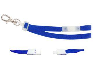Bandă textilă pentru ecuson 10 mm albastru