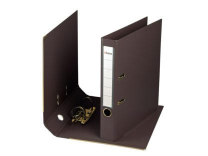 Biblioraft plastifiat übers 50 mm negru
