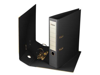 Biblioraft plastifiat übers 75 mm negru
