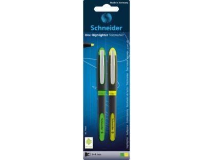 Blister Textmarker Schneider One