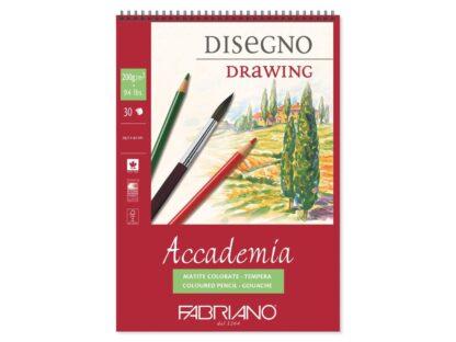 Bloc desen Accademia Disegno, A3, cu spiră, Fabriano