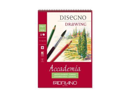 Bloc desen Accademia Disegno, A4, cu spiră, Fabriano