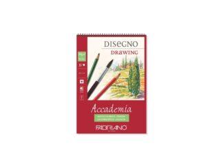 Bloc desen Accademia Disegno, A5, cu spiră, Fabriano