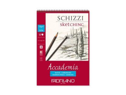 Bloc desen Accademia Schizzi, A4, cu spiră, Fabriano