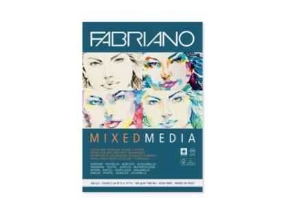 Bloc desen Mix Media, A4, fără spiră, Fabriano
