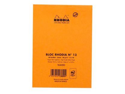 Blocnotes capsat N°13 A6 capsat Rhodia spate