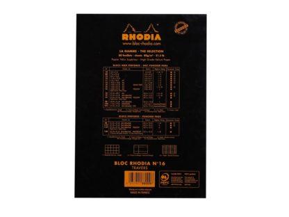 Blocnotes N°16 A5 capsat Rhodia dictando spate