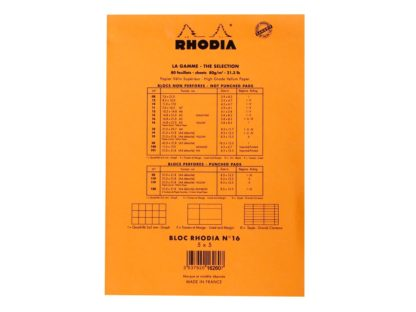Blocnotes N°16 A5 capsat Rhodia Orange spate