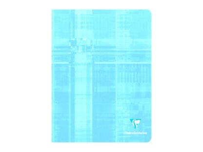 Caiet capsat 17 x 22 cm 5 x 5 Clairefontaine albastru deschis