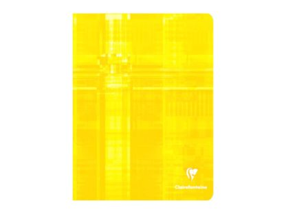 Caiet capsat 17 x 22 cm 5 x 5 Clairefontaine galben