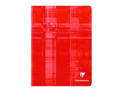 Caiet capsat 17 x 22 cm 5 x 5 Clairefontaine roșu