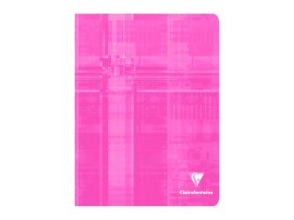 Caiet capsat 17 x 22 cm 5 x 5 Clairefontaine roz