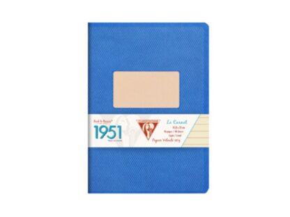 Caiet capsat A5, 48 file, Colecția 1951, Clairefontaine albastru