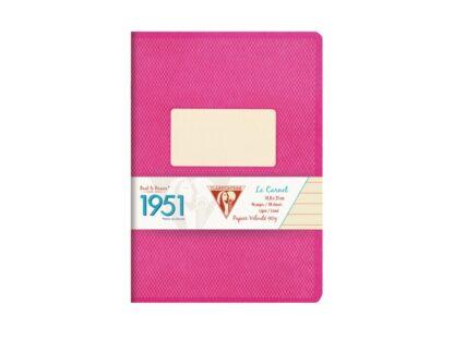 Caiet capsat A5, 48 file, Colecția 1951, Clairefontaine roz