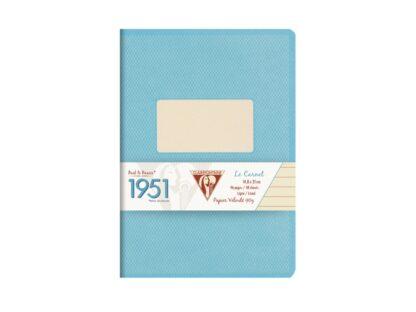 Caiet capsat A5, 48 file, Colecția 1951, Clairefontaine turcoaz
