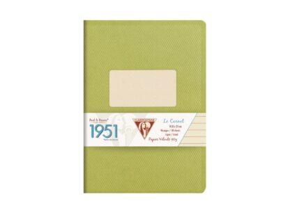 Caiet capsat A5, 48 file, Colecția 1951, Clairefontaine verde