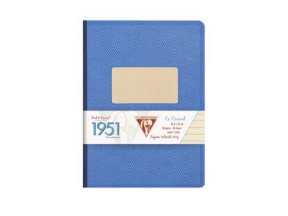 Caiet capsat A5, 96 file, Colecția 1951, Clairefontaine albastru