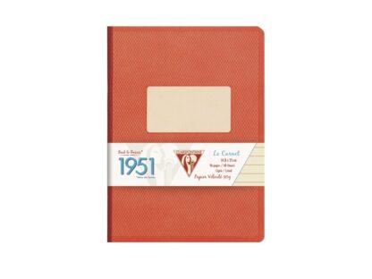 Caiet capsat A5, 96 file, Colecția 1951, Clairefontaine roșu