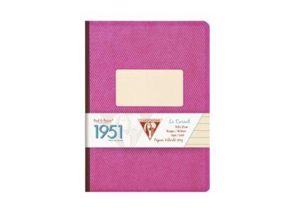 Caiet capsat A5, 96 file, Colecția 1951, Clairefontaine roz
