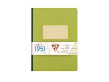 Caiet capsat A5, 96 file, Colecția 1951, Clairefontaine verde