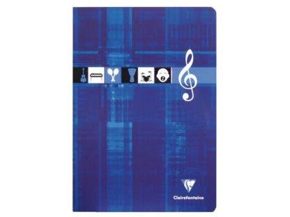 Caiet Clairefontaine Muzică albastru