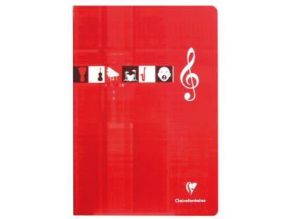 Caiet Clairefontaine Muzică roșu