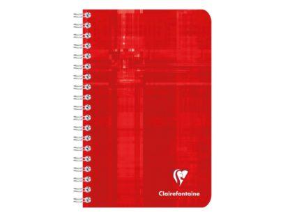 Caiet cu spiră A6+, Clairefontaine roșu