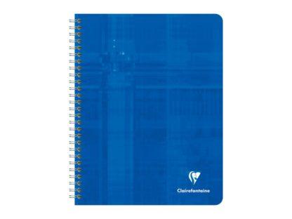 Caiet cu spirală Metric Clairefontaine, 112 file albastru