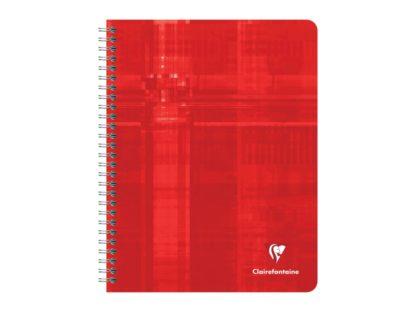 Caiet cu spirală Metric Clairefontaine, 112 file roșu