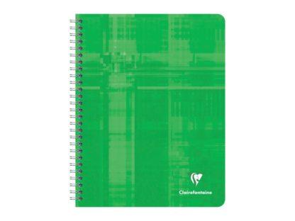 Caiet cu spirală Metric Clairefontaine, 112 file verde