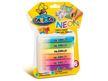 Carioca Fabric Art Neon 6/set