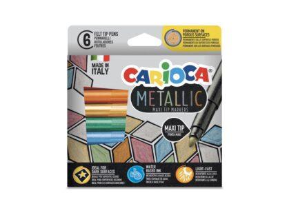 Carioca Metallic Maxi 6/set