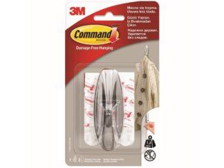 Cârlig aspect cromat Command 3M