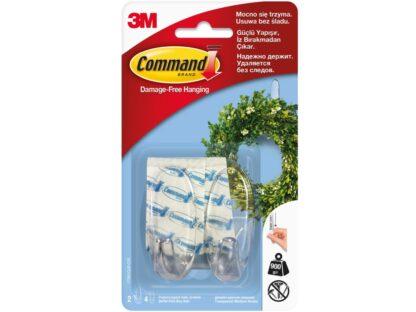 Cârlige design mediu transparent Command 3M