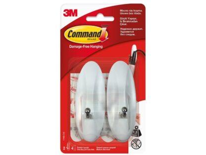 Cârlige cu tijă metalică design mediu Command 3M