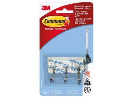 Cârlige cu tijă metalică design mic Command 3M