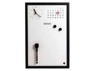 Ceas Memo-Whiteboard magnetic Bi-Silque negru