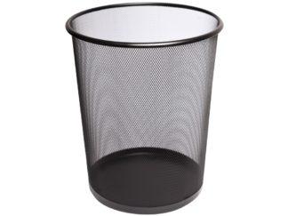 Coș metalic pentru hârtii negru