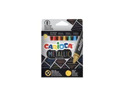 Creioane cerate Metallic Carioca 8/set