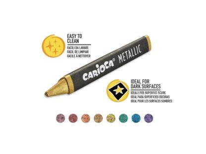 Creioane cerate Metallic Carioca culori
