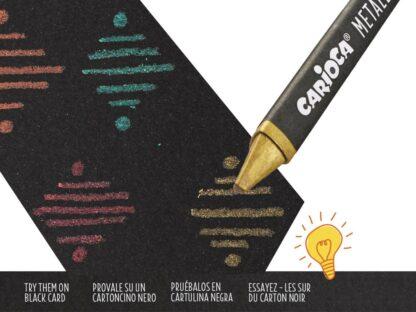 Creioane cerate Metallic Carioca exemplu