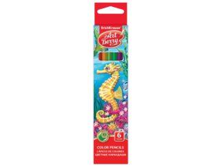 Creioane color hexagonale ArtBerry, 6/set